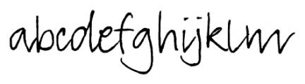 TyfoonScript Light Font LOWERCASE