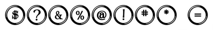 Type Keys Regular Font OTHER CHARS