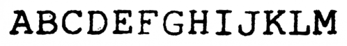 Typewrither Regular Font UPPERCASE
