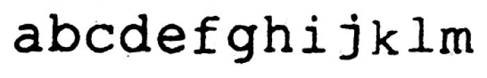 Typewrither Regular Font LOWERCASE