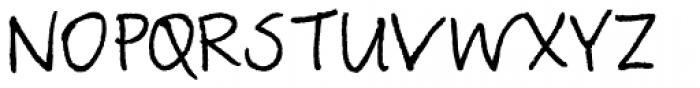 TyfoonScript Font UPPERCASE