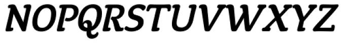 Tyke Medium Italic OS Font UPPERCASE