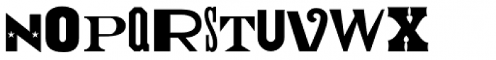 Type Drawer JNL Font UPPERCASE