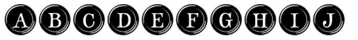 Type Keys Filled Pro Font UPPERCASE