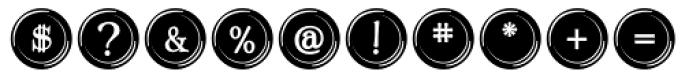 Type Keys Filled Font OTHER CHARS