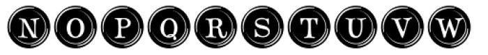 Type Keys Filled Font UPPERCASE