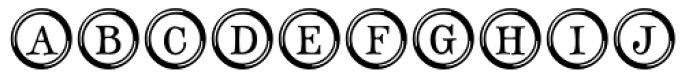 Type Keys Font LOWERCASE