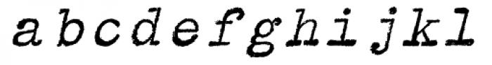 Typewriter BasiX Italic Font LOWERCASE