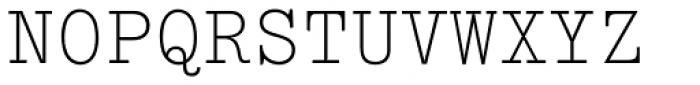 Typewriter Elite Std Font UPPERCASE