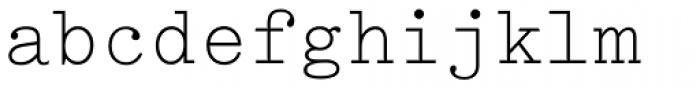 Typewriter Elite Std Font LOWERCASE