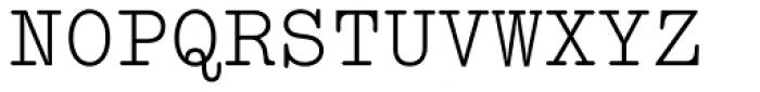 Typewriter MT Font UPPERCASE