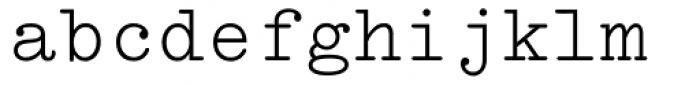 Typewriter MT Font LOWERCASE
