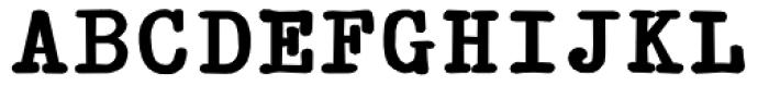 Typewriter Revo Bold Font UPPERCASE