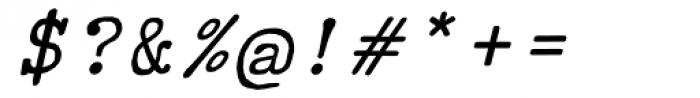 Typewriter Revo Italic Font OTHER CHARS