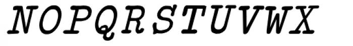 Typewriter Revo Italic Font UPPERCASE