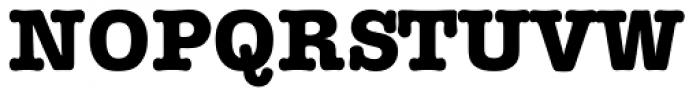 Typewriter Serial ExtraBold Font UPPERCASE