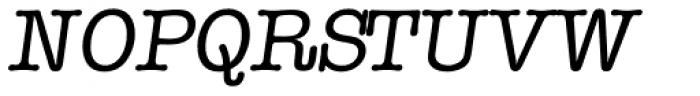 Typewriter Serial Italic Font UPPERCASE