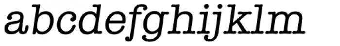 Typewriter Serial Italic Font LOWERCASE