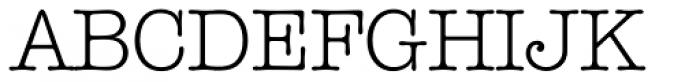 Typewriter Serial Light Font UPPERCASE