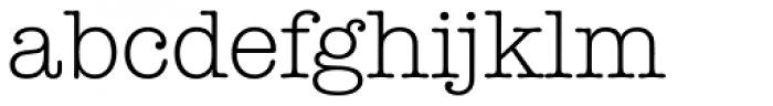 Typewriter Serial Light Font LOWERCASE