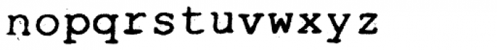 Typewrither Font LOWERCASE