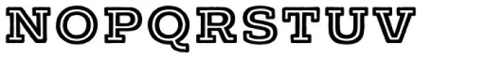 Typnic Headline Slab Inline Font LOWERCASE