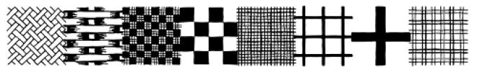 Typnic Patterns Font UPPERCASE