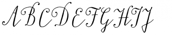 Typnic Script Font UPPERCASE