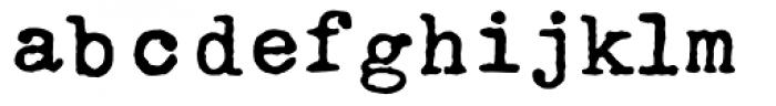 Typo American Font LOWERCASE