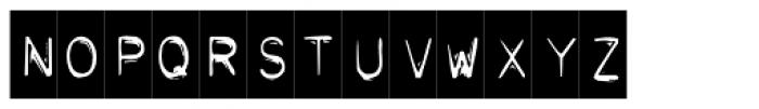 Typo Negative Font UPPERCASE