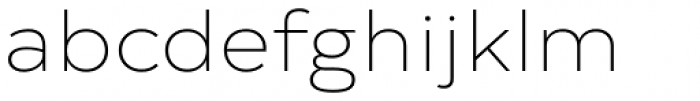 Typold Extended Thin Font LOWERCASE