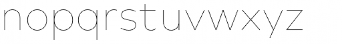 Typold Extra Thin Font LOWERCASE
