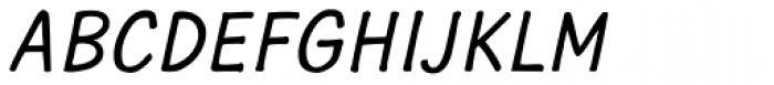 Typothetical 1 Oblique Font UPPERCASE