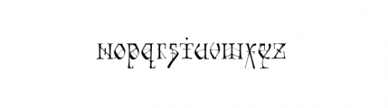 Tyrant (plain) Font LOWERCASE