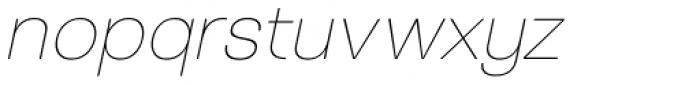 Tzaristane B Light Oblique Font LOWERCASE