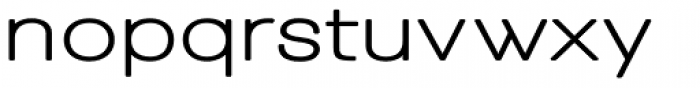 Tzaristane Bold Exp Font LOWERCASE
