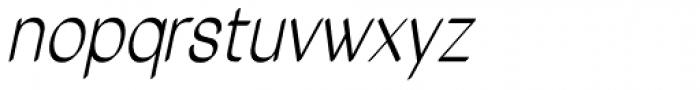 Tzaristane Cal Cond Oblique Font LOWERCASE