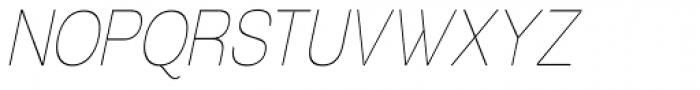Tzaristane Light Cond Oblique Font UPPERCASE