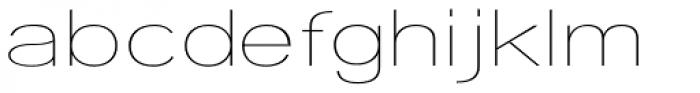Tzaristane Light Exp Font LOWERCASE