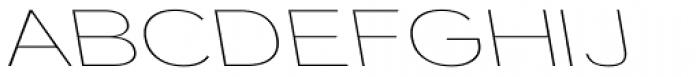 Tzaristane Light Left Exp Font UPPERCASE