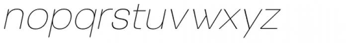Tzaristane Light Oblique Font LOWERCASE