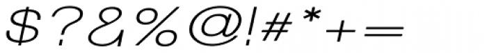 Tzaristane Normal Exp Oblique Font OTHER CHARS