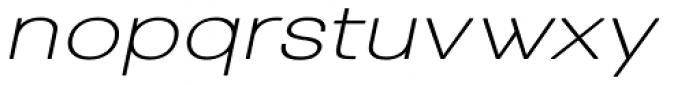 Tzaristane Normal Exp Oblique Font LOWERCASE