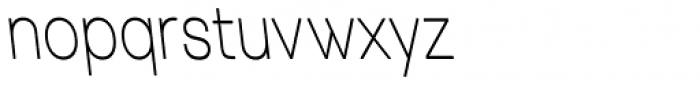 Tzaristane Normal Left Cond Font LOWERCASE
