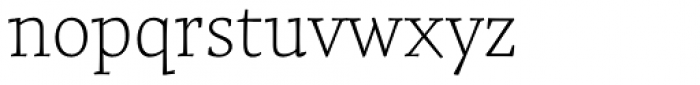 Tzimmes Thin Font LOWERCASE