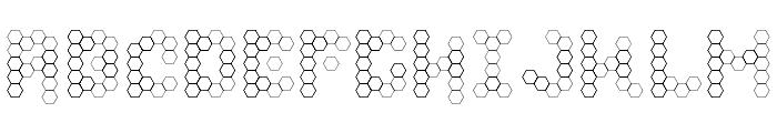 U Honeycombed Font UPPERCASE