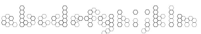 U Honeycombed Font LOWERCASE