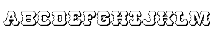 U.S. Marshal 3D Regular Font UPPERCASE