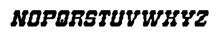 U.S. Marshal Condensed Italic Font UPPERCASE