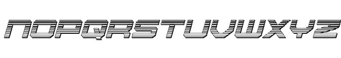 U.S.S. Dallas Chrome Italic Font UPPERCASE